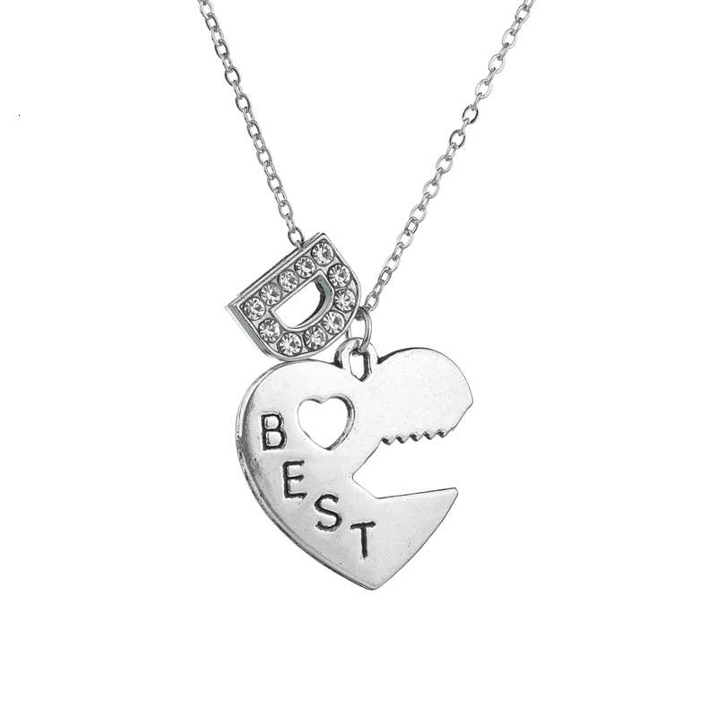 Stylish Key Lock Letters Micro-inlaid Zircon Necklace & Pendant For Women's Best Friends  Necklace Friendly Statement Necklace