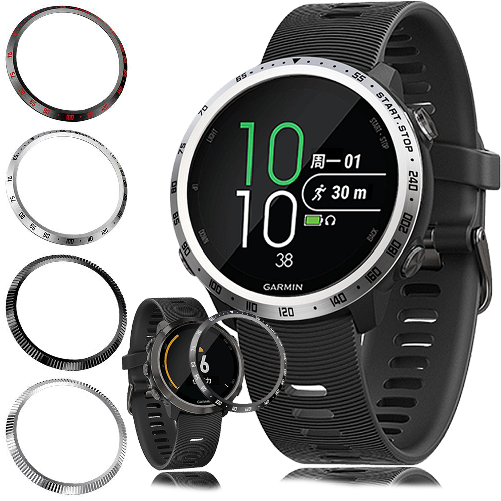 For <font><b>Garmin</b></font> <font><b>Forerunner</b></font> <font><b>645</b></font> Bezel Ring Styling Frame <font><b>Case</b></font> Cover Protection Music Ring Anti Scratch Protector Accessories Bezelring image