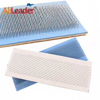 Alileader  Free Shipping 24*9 cm Hair Bundle Drawing Mat Bulk Hair Extension Hair Drawing Mat Cheap Hair Straighten Tool 24 9 hair holder drawing mat for use with the application of hair extensions drawing card skin pad with needles