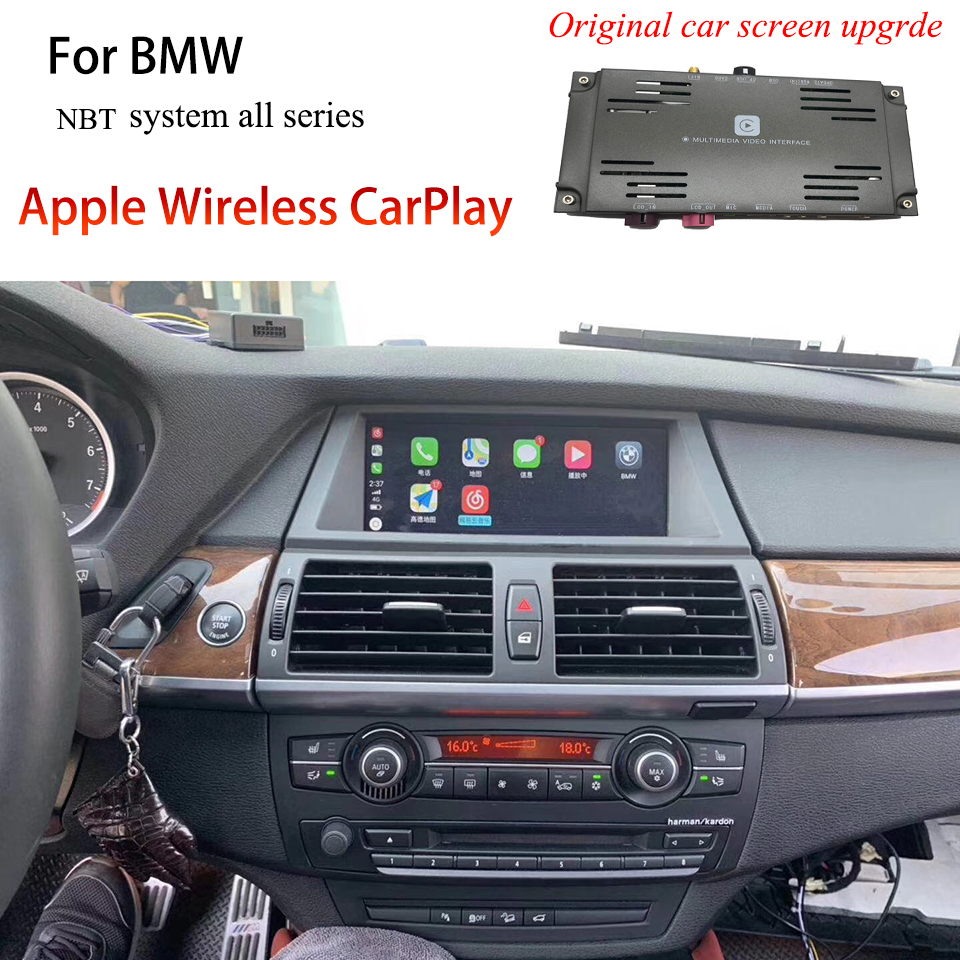 Vehicle Multimedia Apple CarPlay Decoder Interface for BMW NBT Complete Range Compatible Latest IOS13 Car Play Box image