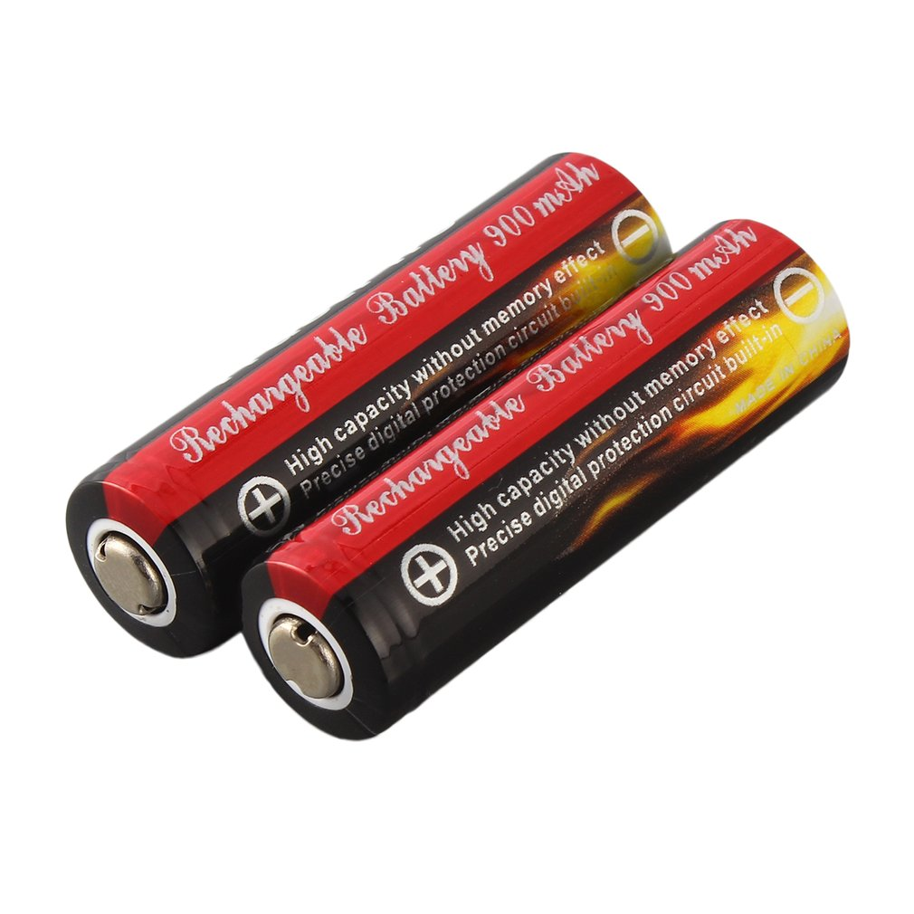 2Pcs AA 3.7V <font><b>14500</b></font> 900mAh Rechargeable <font><b>Li</b></font>-<font><b>ion</b></font> LED Battery Safe Environmental Friendly For Flashlight In stock! image