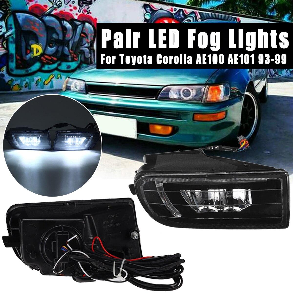 Fog Lamp Assembly Super Bright Fog Light For Toyota Corolla AE100 AE101 1993 1994 1995 1996 1997 1998 1999 Led Fog Lights 1set