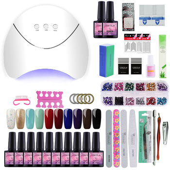 COSCELIA US Warehouse Clearance Nail Set UV LED Lamp Dryer Nail Gel Polish Kit Soak Off Manicure Tools Set For Nail Art Tools 2