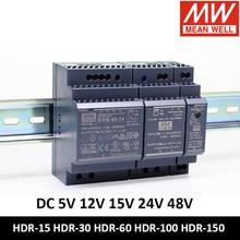 MEAN WELL – alimentation électrique sur Rail DIN, 12v, 24V, 5V, 15V, 24V, 48v, fin