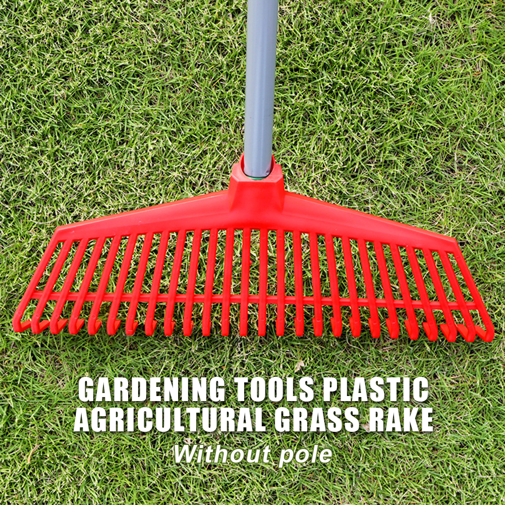 Cleaning Courtyard Agricultural Gardening Tools Odorless Non-toxic Lawn Grass Rake 26 Teeth Practical Replacement Loose Soil