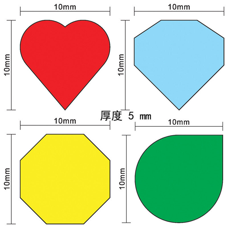 40Pcs 10mm Red Heart Shape Blue Diamond Shape Green Drop Pawn Wood Chessman Game Pieces For Token Board Game Injury Mark