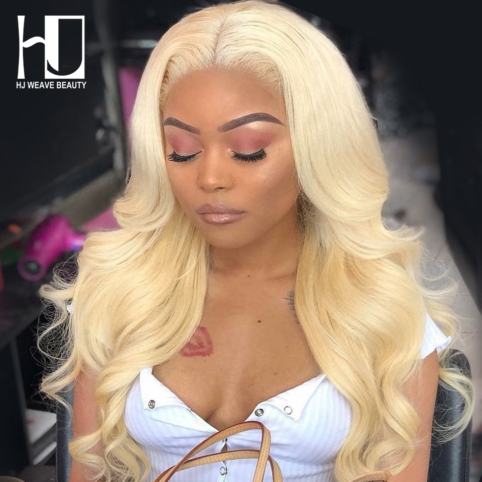 13x6 613 Blonde Lace Front Wig Peruvian Body Wave Remy Hair Pre Plucked With Baby Hair Transparent Lace Front Human Hair Wigs