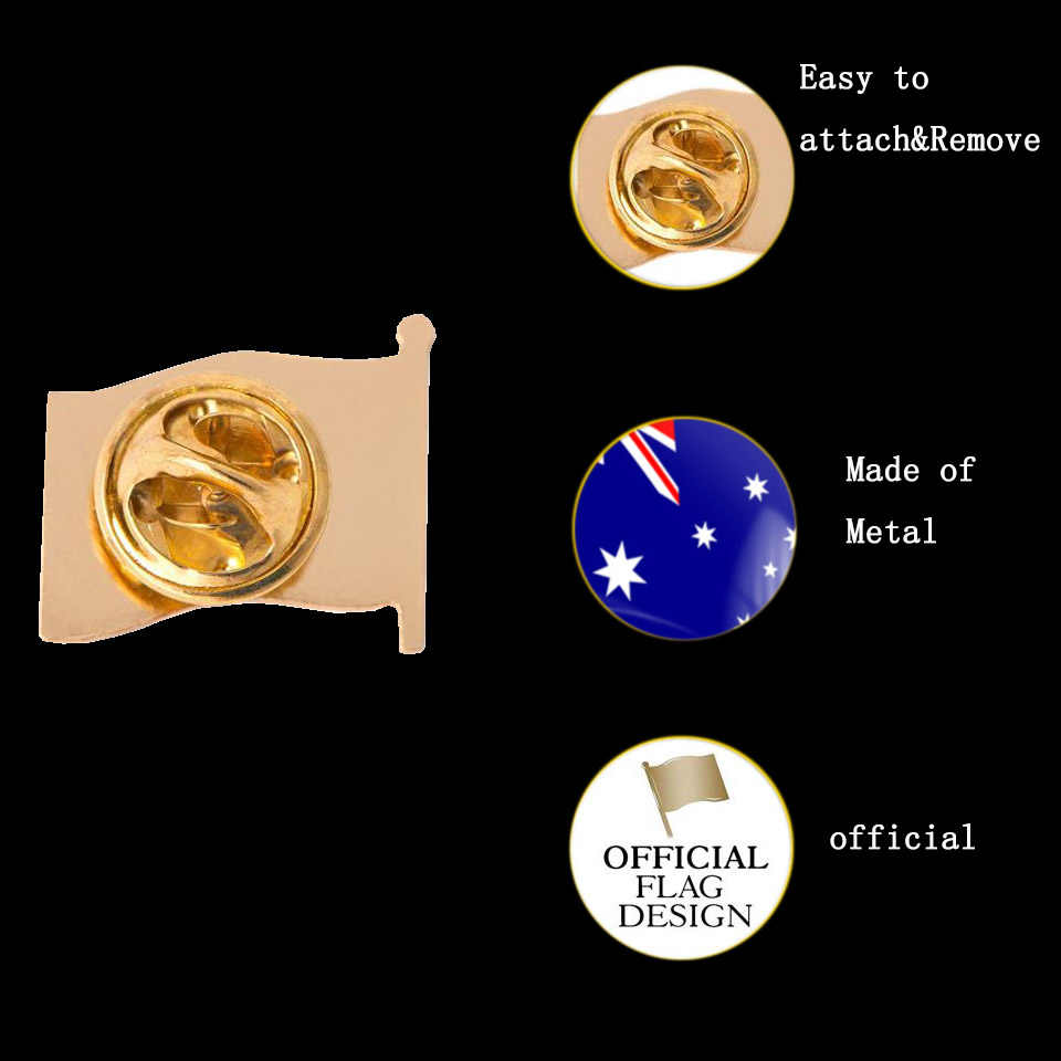 Australië Vlag Revers Pin Trots Pride Badge Emblem Blue Ensign Union Jack Revers Hoed Tie Pin Broche