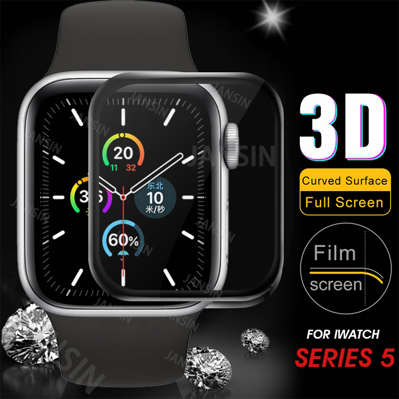 3D Tempered Glass For Apple Watch 5 4 44mm 40mm HD Screen Protector Film For Apple Watch Series 3 2 1 38mm 42mm Protective Film