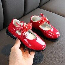 Girls Leather Shoes Fashion Children Wedding Dress Princess School