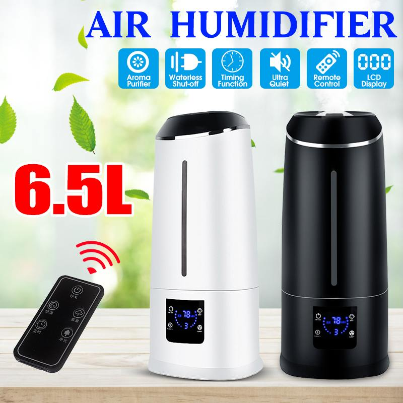 6.5L Timing Ultrasonic Air Humidifier LCD Screen Large Capacity Cool Mist Humidifier Purifier Essential Oil Diffuser|Humidifiers| |  - title=