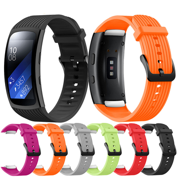 Soft Sport Silicone Pure color Strap For Samsung Galaxy Gear Fit 2 Pro R365 WatchBand wrist strap for Samsung Gear Fit 2 SM-R360