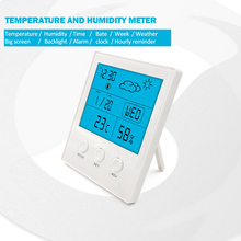 Digital Weather Station Forecast Indoor Outdoor Hygrometer Thermometer Humidity Temperature Moisture Meter Humidity Air Tester wireless digital weather station latest new white remote multifunction weather forecast clock temperature humidity meter