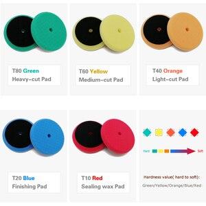 Image 3 - Polieren Schwamm Pad 3 Inch Platz Auto Polieren DISC Wachsen Schwamm Kit für auto polierer maschine