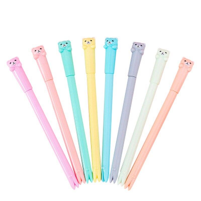 Bear Gel Pen Kawaii Stationery 0.5mm Cartoon Student Gel Pens Cute Pen Kawaii School Supplies Signature Novelty Stationery Pens