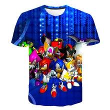 Детская футболка sonic для мальчиков детская одежда летняя уличная