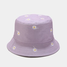 Hats Bucket-Hat Fisherman-Hat Embroidery Flower Women Outdoor LDSLYJR Cotton for And