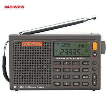 Radiwow SIHUADON R-108 FM Stereo Digital Portable Radio Sound Alarm Function Display Clock Temperature Speaker as Parent gift 1
