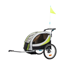 Aluminum Alloy Frame Baby Stroller With 20 Inch Wheel, Fold Bike Trailer Kids Jogger Stroller Bike Tandem Bicycle Trailer