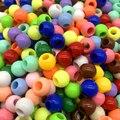 50 шт./лот 10x8 мм акриловые бусины с большими отверстиями для самостоятельного изготовления ювелирных изделий 17 цветов