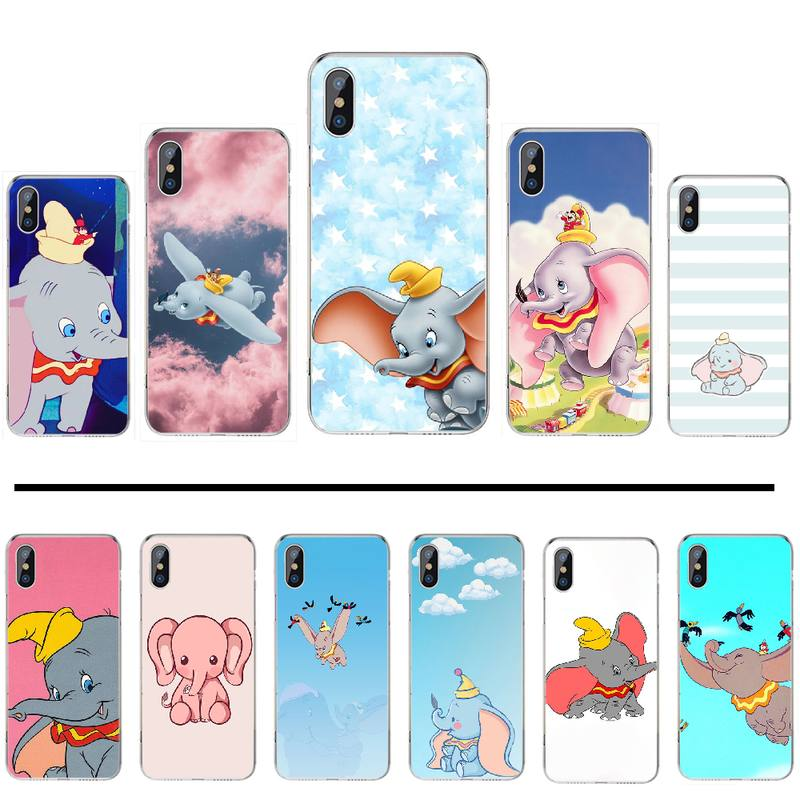 Cartoon Cute Flying Elephant Coque Shell Phone Case For iphone 4 4s 5 5s 5c se