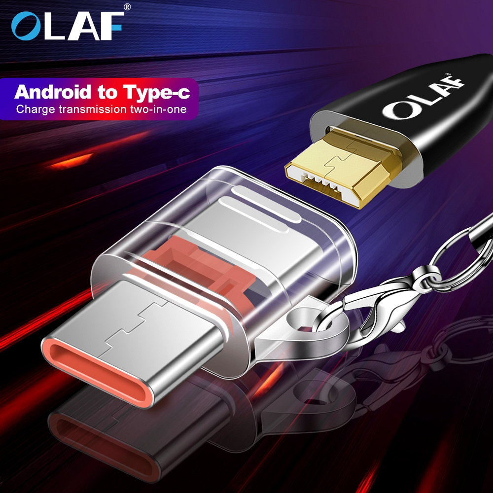 OLAF USB Type C Male To Micro USB Female Adapter USB Type-C Support OTG For Xiaomi Redmi Note 7 Samsung S10 S9 Huawei LG Tablet