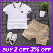 New Summer Kids Clothes Boys Costume Sets Short-Sleeve T-shirt & Shorts Sports Suit Children Clothing Boy Sets 1 2 3 4 Years Old