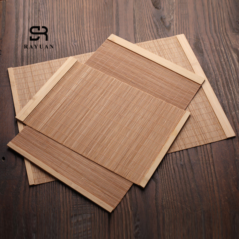 RAYUAN Natural Bamboo Table Runner Placemat Tea Mats Table Placemat Pad Ceiling Decor Home Cafe Restaurant Decoration