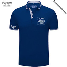 Custom embroidery polo shirt uniform workwear and custom printing with Left chest pocket