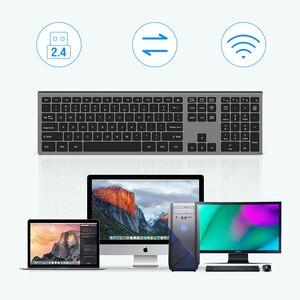 Image 5 - SeenDa Dünne 2,4G Wireless Tastatur für Laptop Desktop Schere Schalter Tastatur für Windows Mac OS Volle Größe 109 Schlüssel tastatur