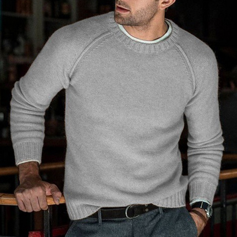 Men Knitted Sweaters O Neck Slim Pullover Knitwear Autumn Casual Tricot Jumper Solid Pullovers Sweater Homme 2019 New