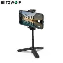 BlitzWolf BS0 Mini trípode/palo Selfie de escritorio Multi ángulo, soporte de teléfono portátil, dispositivo de Selfie monópode para cámara de teléfono
