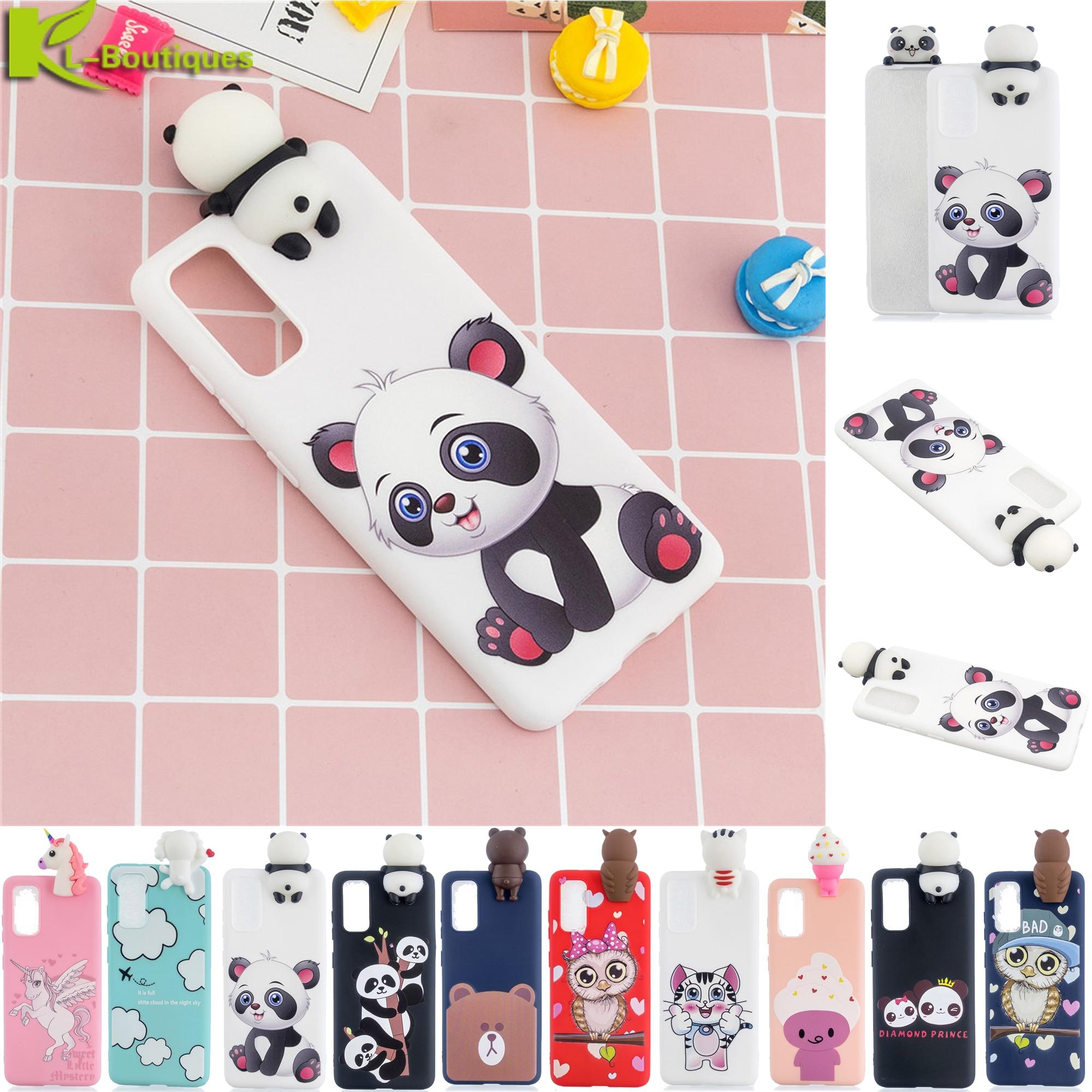 A21S Case Na Sfor Samsung Galaxy A21S SM-A217F/DS SM-A217F/DSN Case DIY 3D Doll Toy Unicorn Panda Soft TPU Cover On A21 S A 21S