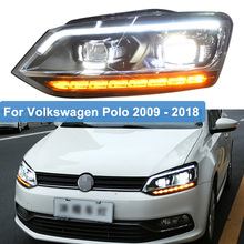 цена на Car Styling LED Headlights For VW Polo Head Lamp For Volkswagen Polo 2009 ~ 2014 2015 2016 2017 2018 LED DRL Moving Turn Signal