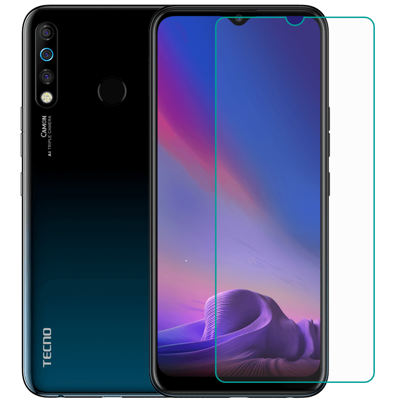 Tempered Glass For TECNO Camon 12 / 12 Pro  GLASS 9H 2.5D Protective Film Explosion-proof Clear LCD Screen Protector Phone Cover