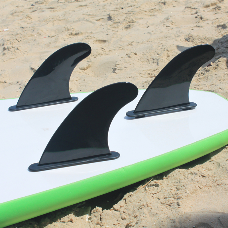 Surf FCS Soft Fin Black SUP Board Fins Surfing FCS Fins Quad Fin