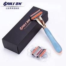 Baili ручной мужской картридж с 5 лезвиями для бритья безопасная