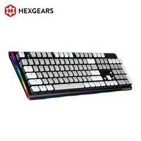 HEXGEARS GK735 Kailh BOX Switch Mechanical Keyboard 104 Key Hot Swap Waterproof Gaming Keyboard PBT Keycaps RGB Side Keyboard
