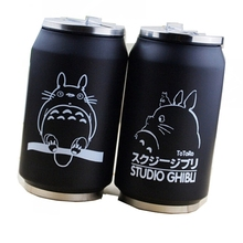การ์ตูนสูญญากาศแก้วเพื่อนบ้านของฉัน totoro cola สแตนเลสอะนิเมะ Action figures ถ้วยญี่ปุ่น hayao miyazaki ออกแบบ