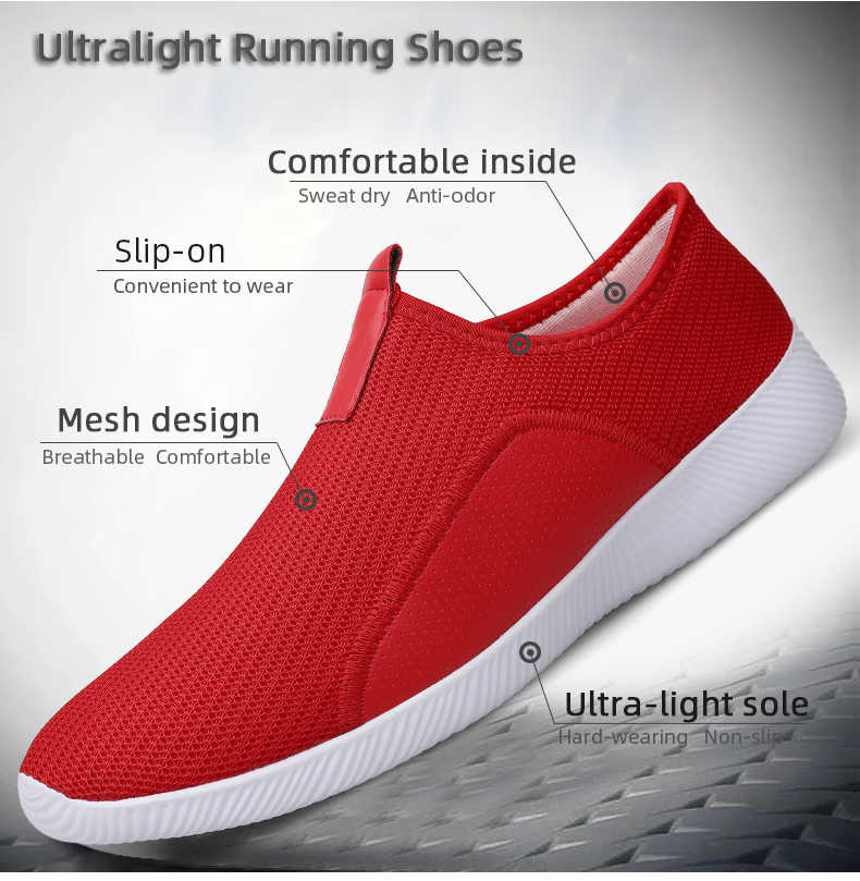 Damyuan gündelik erkek ayakkabısı moda Mesh hafif erkek spor ayakkabı koşu ayakkabıları nefes koşu erkek ayakkabısı artı boyutu 46 Dropshipping