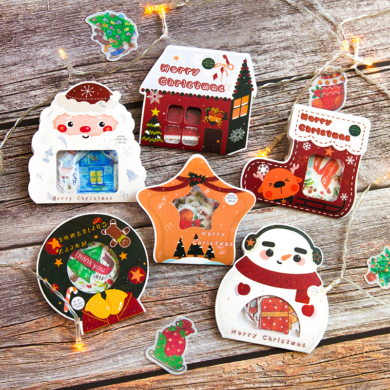 Christmas series Decorative Washi Stickers Scrapbooking Stick Label Diary Stationery Album Snowman E