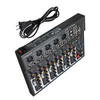 LEORY 7 Kanal Digital Mikrofon Sound Mixer Konsole 48V Phantom Power Professionelle Karaoke Audio Mixer Verstärker Mit USB