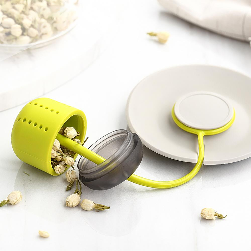1PCS Creative New Silicone Tea Strainer Herbal Spice Infuser Filter Diffuser Kitchen Coffee Tea Tools
