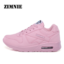 ZIMNIE Large Size 35~44 Woman Pu Leather Running Shoes Summer Breathable Light S