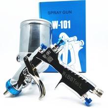 Genuine qr cod W 101 pistola de pulverizador 134g w101 hvlp manual pintura pistola gravidade 1.0/1.3/1.5/1.8mm mobiliário pintura revestimento do carro