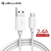 Jellico cabo micro usb 2a, cabo de dados usb, carregamento rápido, para samsung, xiaomi, android cabo de cabo