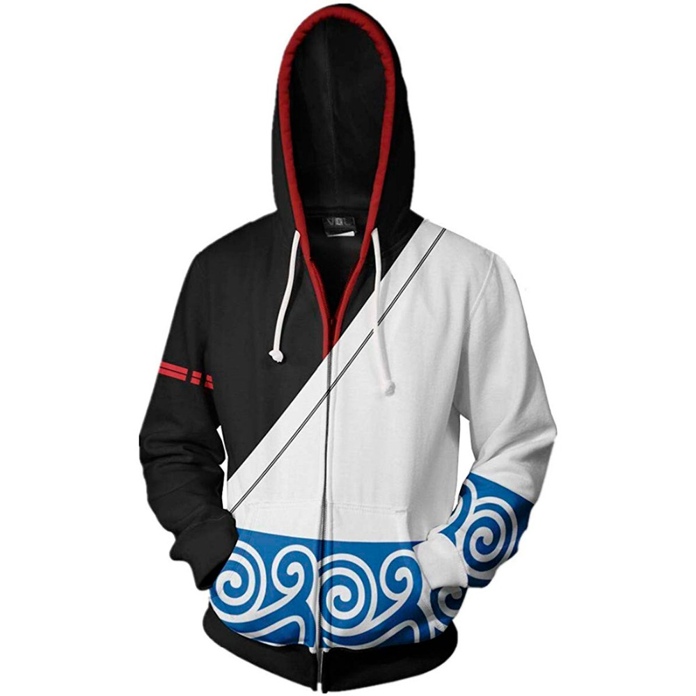 New 2019 Autumn Winter 3D Printed Anime Gintama Men Women Sweatshirt Fashion Cosplay Zipper Men Hoodies Streetwear Jacket Hoodie