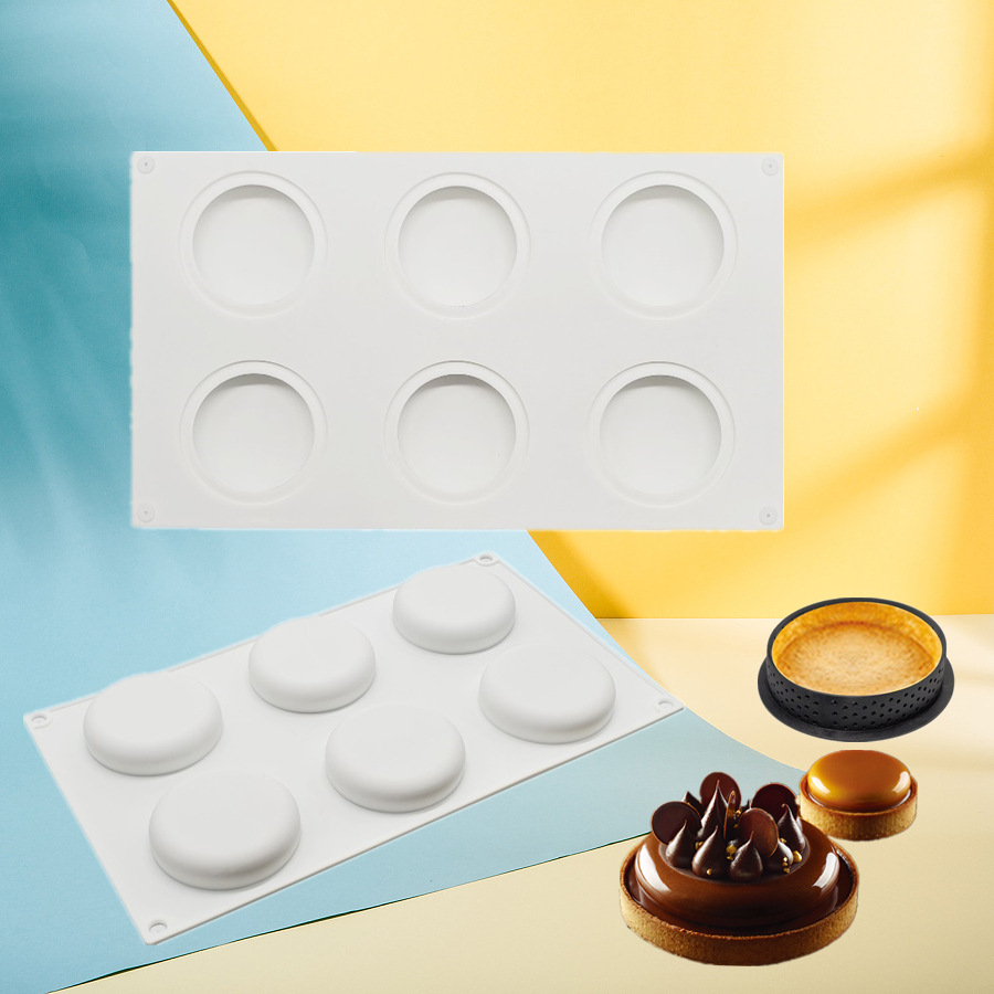 Silicone Molds Kit Tart Ring Cake Decorating Tools Round Chocolate Mold For Baking Mould Bakeware Dessert Mousse Pan