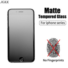 JGKK Matte Frosted Tempered Glass for iPhone 6 6S 7 8 Plus Screen Protector Super 9H Protective Glass for iPhone6 s iPone 8 Plus защитная пленка для мобильных телефонов 10 iphone 6 2 5d 9h iphone6 4 7