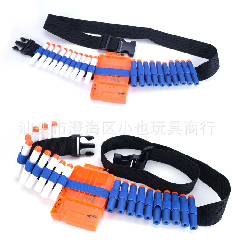Soft Bullet Gun Accessories Compatible Nerf Strengthen Thickening Eva Cartridge Belt Clip Suspender Strap Cool Family Combat Tea